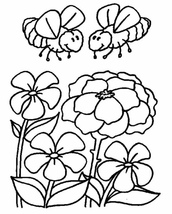 Dibujos para colorear de Abejas, Plantillas para colorear de Abejas