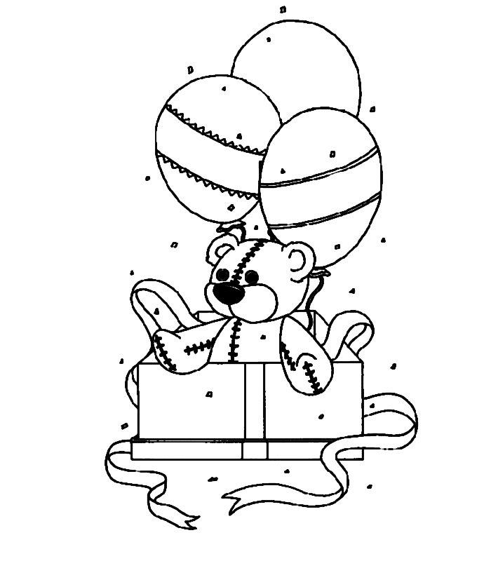 Dibujos para colorear de Cumpleaños, aniversarios, Plantillas para ...