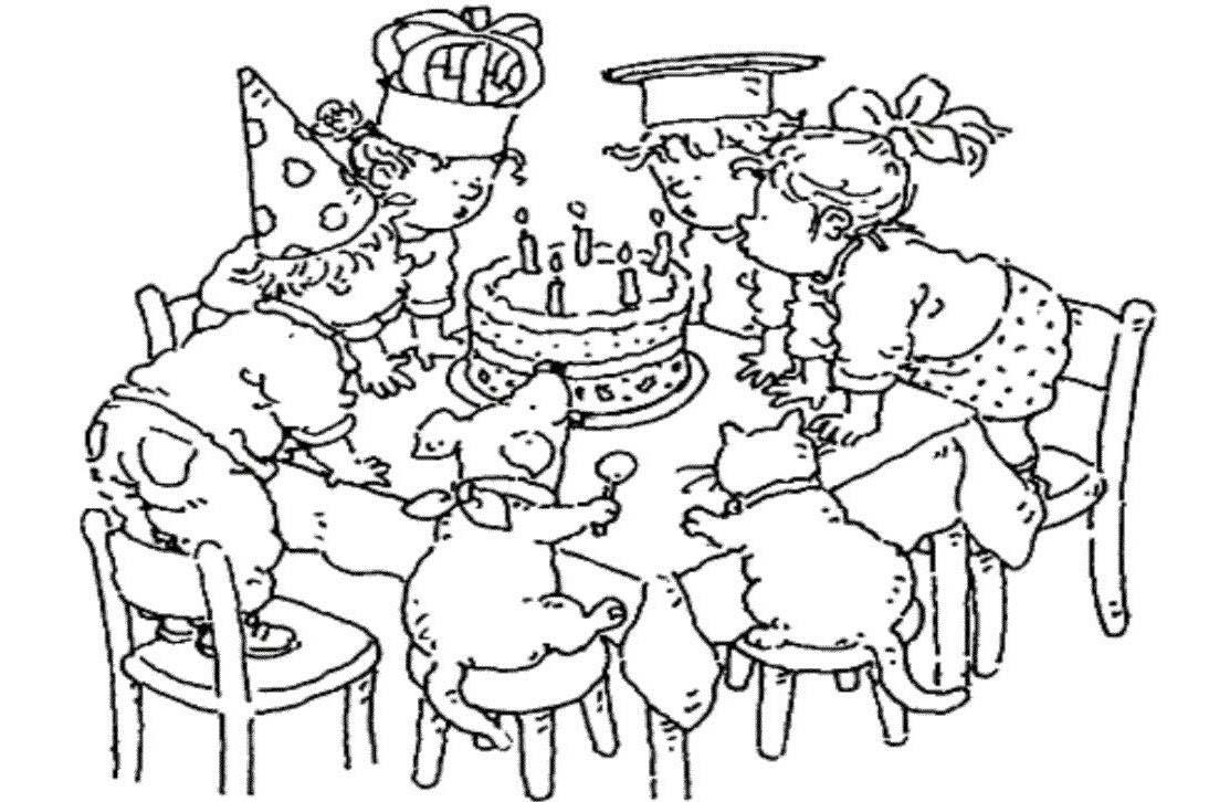 Contemporáneo Cumpleaños Para Colorear Páginas Para Imprimir Molde ...