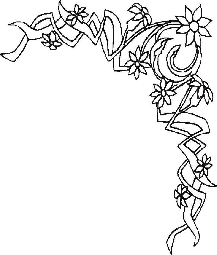 Dibujos para colorear de decoracion plantillas para - Hojas de decoracion ...