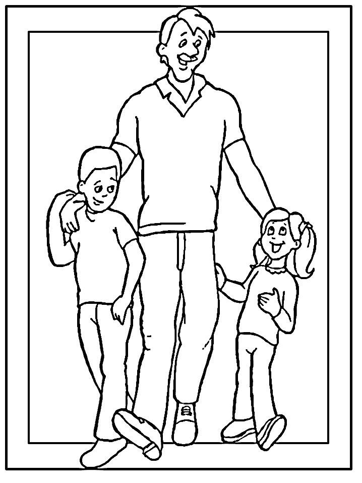 Dibujos para colorear de Dia de la Padre Plantillas para colorear