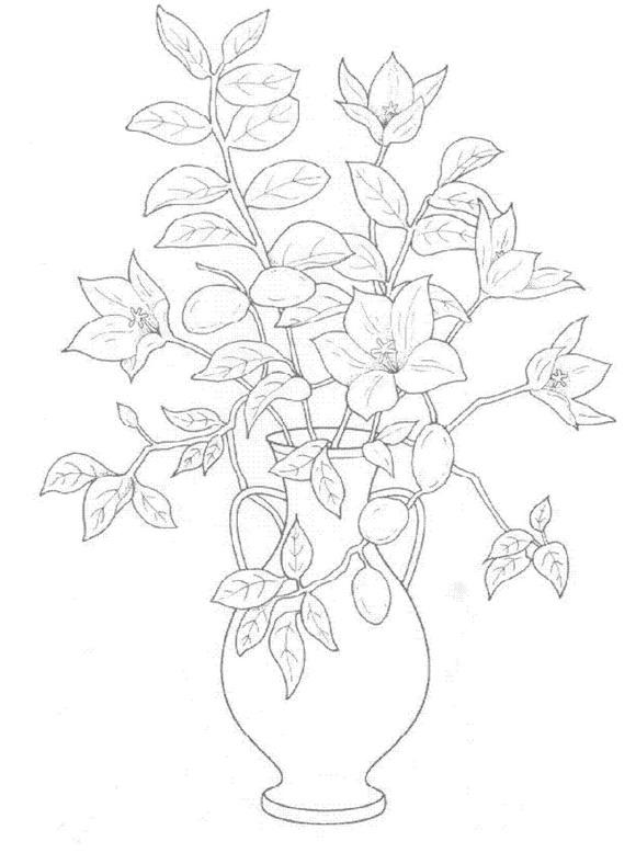 para bajarte las plantillas para colorear de ramos de flores