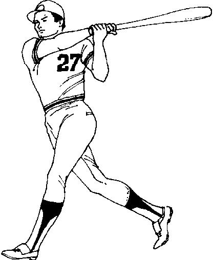 Dibujos para colorear de Beisbol, Plantillas para colorear de Beisbol