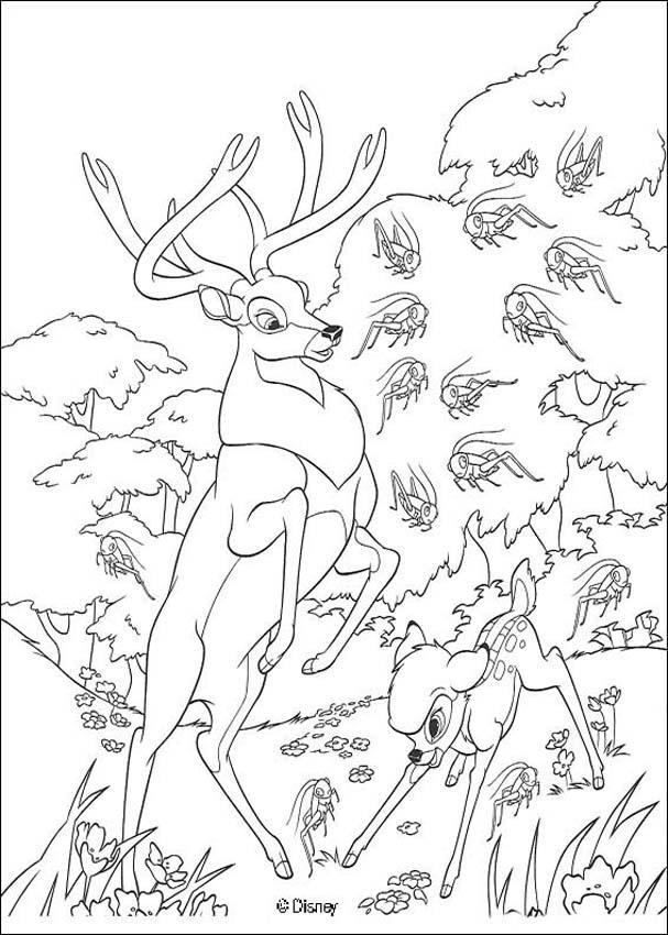 Dibujos para colorear de Bambi, Plantillas para colorear de Bambi