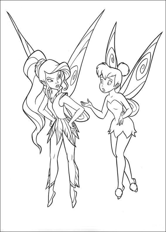 Dibujos de tinker bell y sus amigas para colorear - Imagui