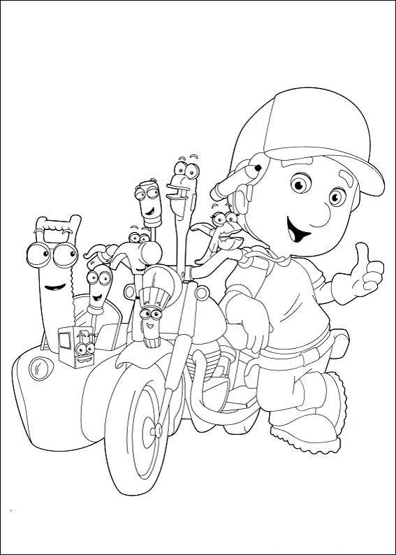 Dibujos Para Colorear De Manny Manitas Handy Manny Manny A