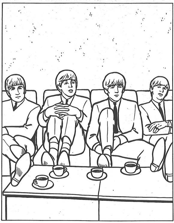 Dibujos para colorear de Los Beatles, The Beatles, Plantillas para ...