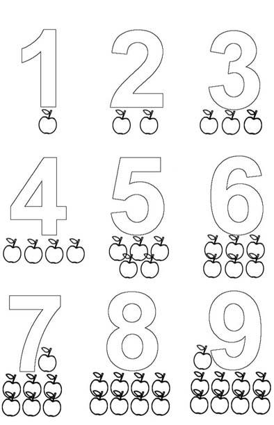 Dibujos para colorear de laminas de letras y numeros - Laminas para imprimir ...