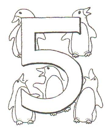 Dibujos para colorear de Numeros con animales, Plantillas para ...