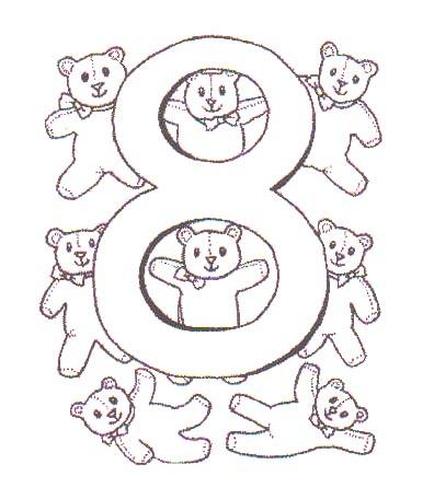 Dibujos para colorear de Numeros con animales, Plantillas ...