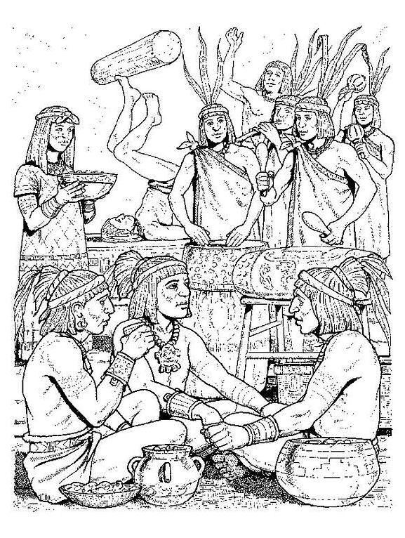 Dibujos de los mexicas para colorear - Imagui