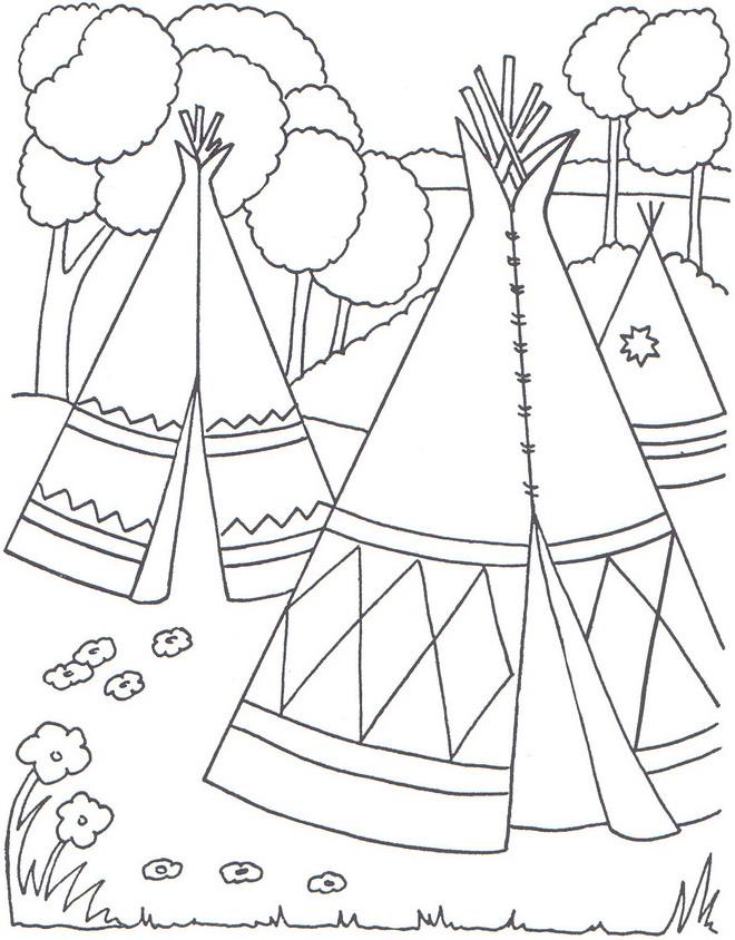 Vistoso Diseños Nativos Americanos Para Colorear Inspiración ...