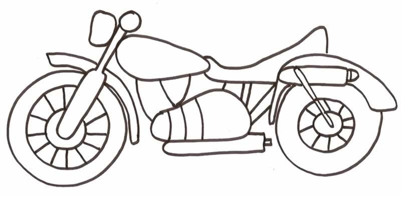 Dibujos para colorear de Motos, motocicleta, Plantillas para ...