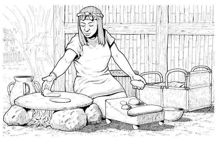 Dibujos para colorear de Aztecas, Plantillas para colorear de Aztecas