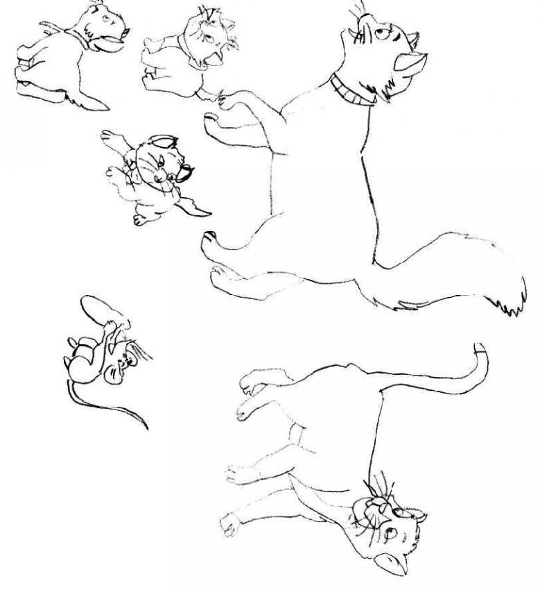 Dibujos para colorear de Los Aristogatos, The Aristocats, Plantillas ...