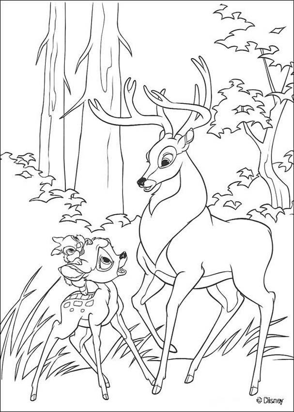 Lujoso Bambi 2 Para Colorear Bosquejo - Ideas Para Colorear ...